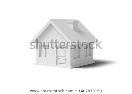 Beyaz render ev renkli 3D beyaz ev Stok fotoğraf © head-off