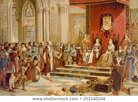 Columbus at the court of King Ferdinand  Stock photo © Snapshot