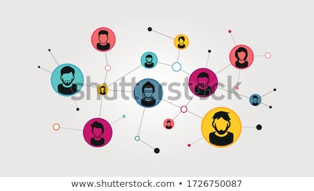 Personnes réseau sociale affaires internet Photo stock © curvabezier