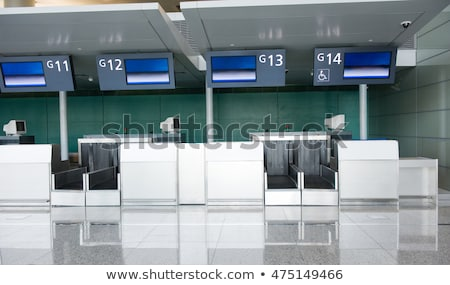 Check in counter at the airport Stock photo © elxeneize