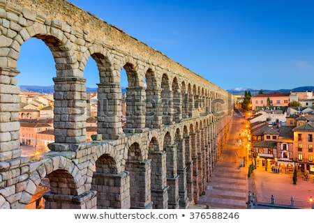 Segovia at night, Castile and Leon, Spain Stock photo © phbcz