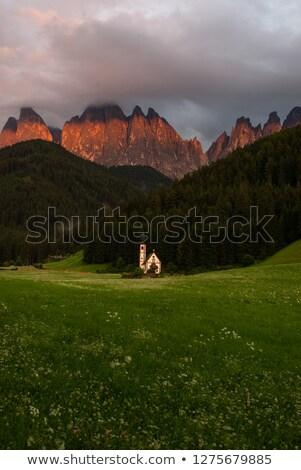 Dolomites - Church in Laste Stock photo © Antonio-S