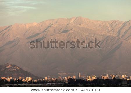 タウン サンティアゴ チリ 日没 空港 ストックフォト © benkrut