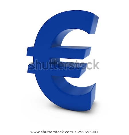 Blue euro symbol isolated on white stock photo © sqback
