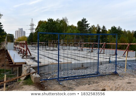 Building scaffolding for formwork, railway construction stock photo © lunamarina