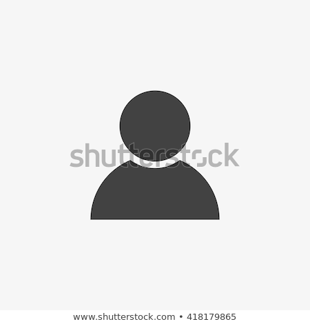 vector user icon on black technology background stock photo © elisanth