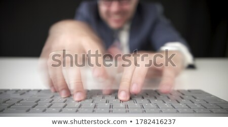 typing fast Stock photo © jayfish