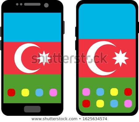 Foto stock: Botón · Azerbaiyán · bandera · teléfono · marco