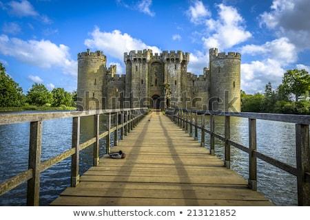 Kastély Sussex Anglia tó építészet Európa Stock fotó © phbcz