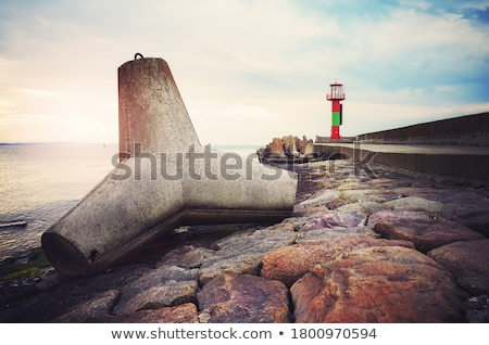 breakwater sunset stock photo © rafalstachura