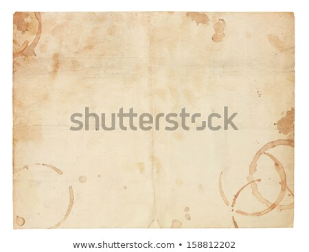 Old Blank Paper with Coffee Ring Stains Stock photo © 3mc