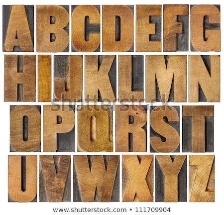 полный Готский алфавит черный болван декоративный Сток-фото © adrian_n