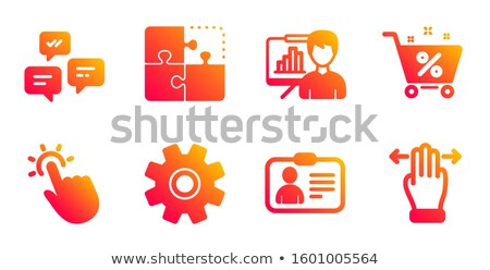 id card icon on orange puzzle stock photo © tashatuvango