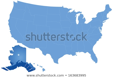 Map of States of the United States where Alaska is pulled out Stock photo © Istanbul2009