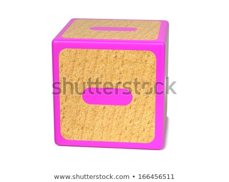 Minus Sign - Childrens Alphabet Block. Stock photo © tashatuvango