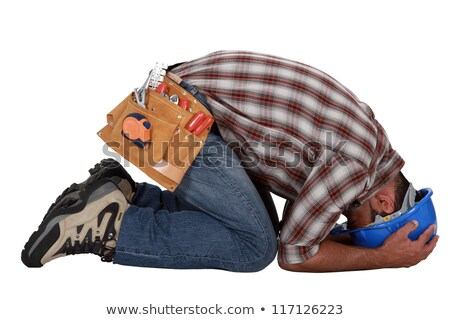 Tradesman overwhelmed with grief Stock photo © photography33