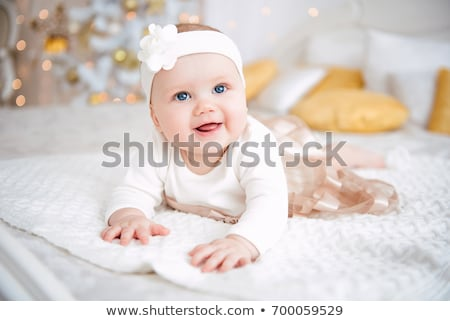 Little baby girl Santa Stock photo © Anna_Om