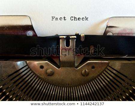 真実 タイトル 古い紙 古い グランジ 引き裂かれた紙 ストックフォト © stevanovicigor