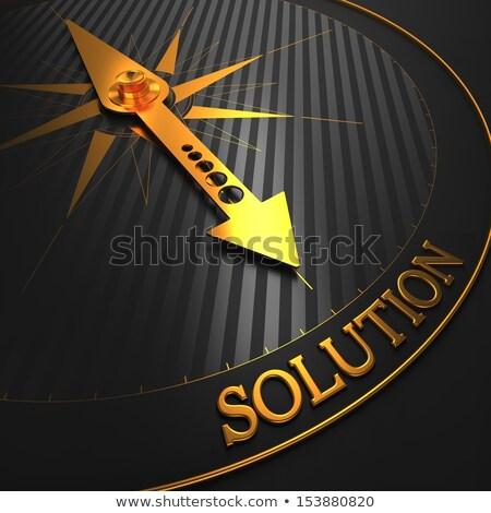 Efficiency on Black and Golden Compass. Stock photo © tashatuvango