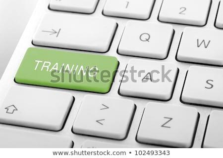 billentyűzet · kék · gomb · gyik · internet · notebook - stock fotó © redpixel