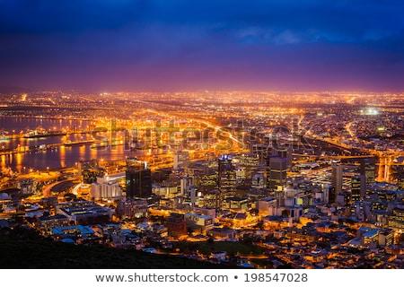 noite · África · do · Sul · região · luzes · da · cidade · espaço · elementos - foto stock © Harlekino