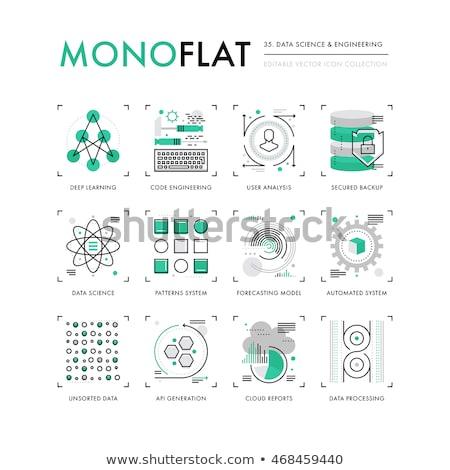 Data Mining Concept in Flat Design. Stock photo © tashatuvango