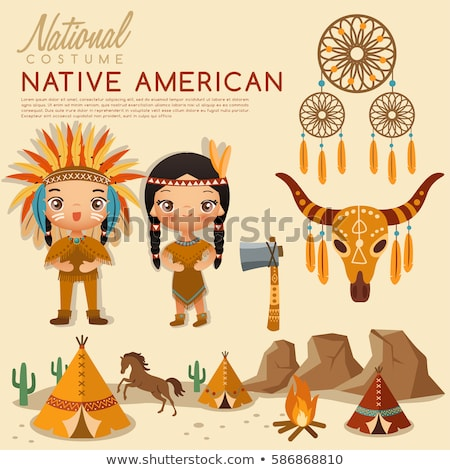 cute native american indian girl stock photo © clairev