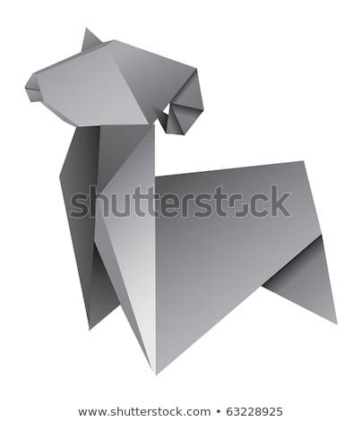 оригами вектора бумаги фон животные азиатских Сток-фото © itmuryn