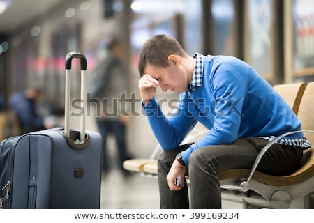 business trip   working late frustration stock photo © dgilder