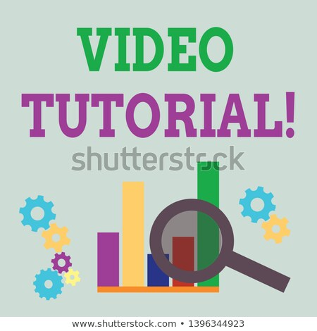 Video marketing vergrootglas oud papier Rood verticaal Stockfoto © tashatuvango