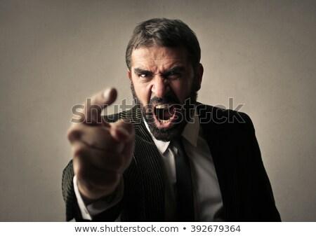 zangado · moço · nervoso · atômico · retrato - foto stock © ichiosea