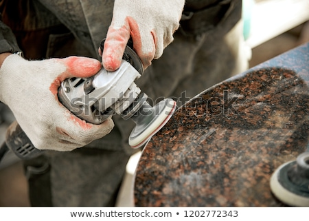 Pracy obyty kamień tle mężczyzn Zdjęcia stock © OleksandrO