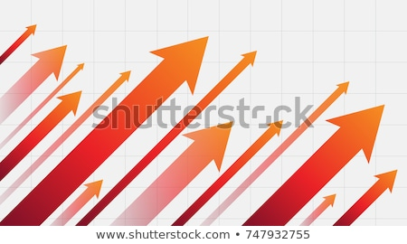 Red arrow going up in line graph Stock photo © madebymarco