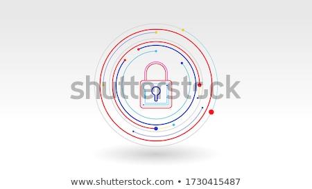 символический круга человека рук синий Сток-фото © pressmaster
