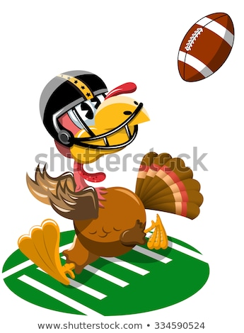 Turkey Football Player Running stock photo © digitaljoni