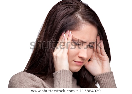 Foto stock: Young Woman Suffering From A Severe Depression