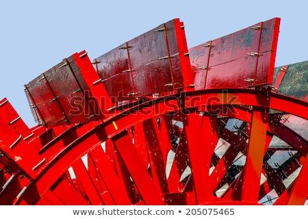 rosso · blu · fumo · fuoco · design · nero - foto d'archivio © meinzahn