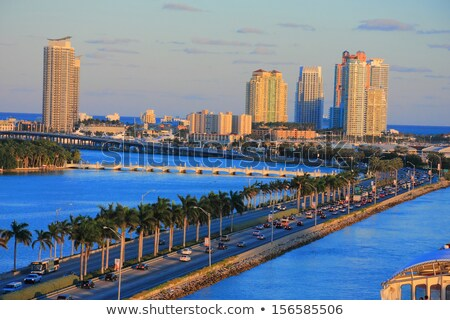 Miami zuiden strand jachthaven skyline USA Stockfoto © vwalakte