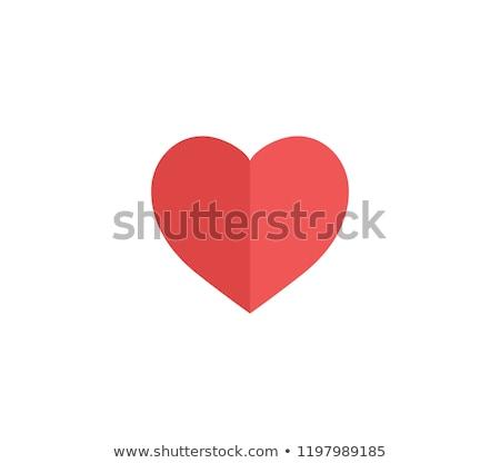 due · carta · cuori · rosso · amore · frame - foto d'archivio © enlife