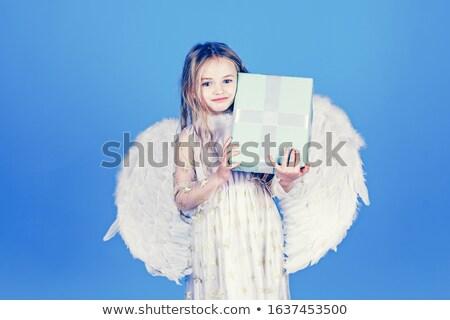 pequeno · surpreendido · anjo · menina · isolado · fadas - foto stock © ilona75