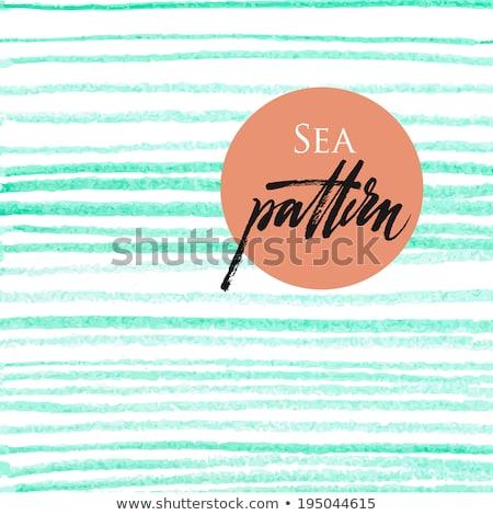 Stock photo: Blue crayon stripes pattern