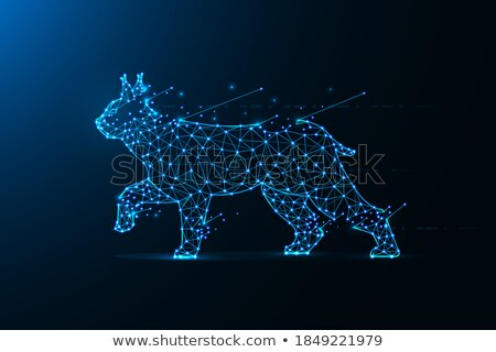 Cat made of polygonal shapes Stock photo © evetodew