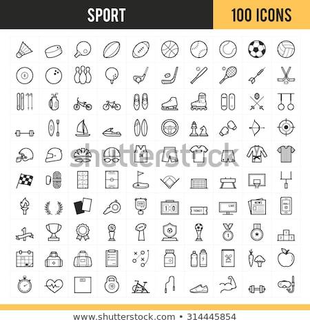 スポーツ · アイコン · サッカー · 野球 · 黒 · レース - ストックフォト © wittaya