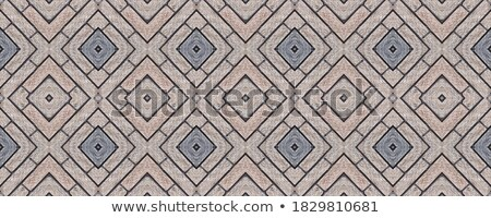 Openwork Gray Pavement Slabs. Stock photo © tashatuvango