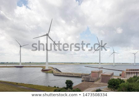wind turbines, Zeeland, Netherlands Stock photo © phbcz