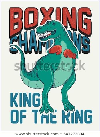 Boxing dinosauro sport divertimento kid decorazione Foto d'archivio © Soleil