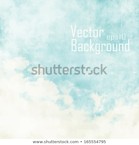 blue sky vintage background with white clouds Stock photo © Julietphotography