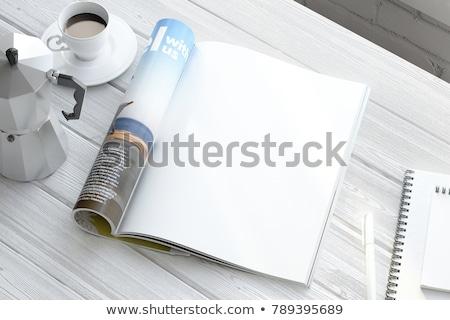 Dergi sayfa kıvırcık gölge bo kâğıt Stok fotoğraf © nicemonkey