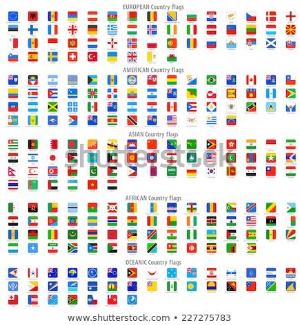 Vierkante icon vlag Marokko metaal frame Stockfoto © MikhailMishchenko