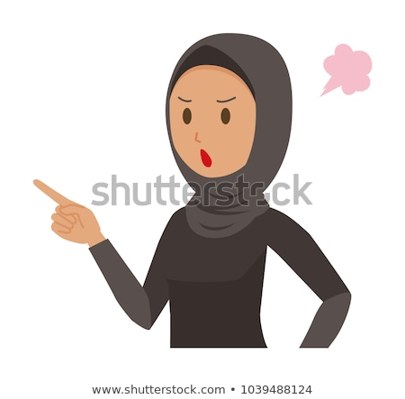comic cartoon woman pointing finger of blame Stock photo © lineartestpilot